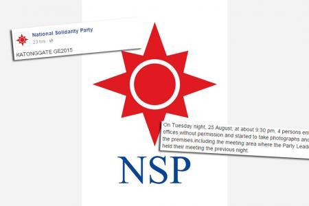 NSP lodges police report over 'Katonggate' break-in