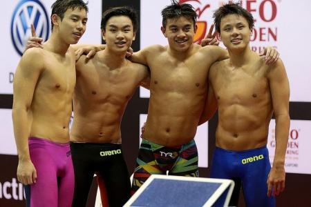 4x100m IM squad score a world first for Singapore