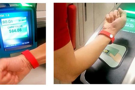 Wristband for paying fares being tested
