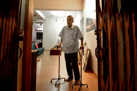 Mr Yim Chee Peng, 68, fights on despite end-stage kidney failure.