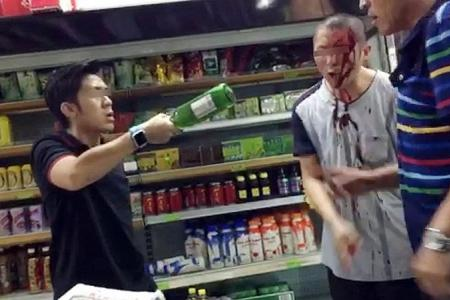 Man hits victim with two beer bottles in Geylang store