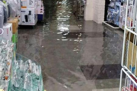 Flooding but Jurong shop owners are used to it