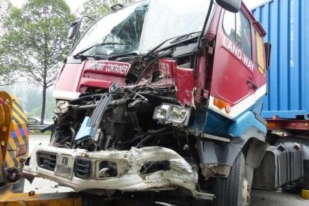 Nine-vehicle pile-up causes three-hour jam