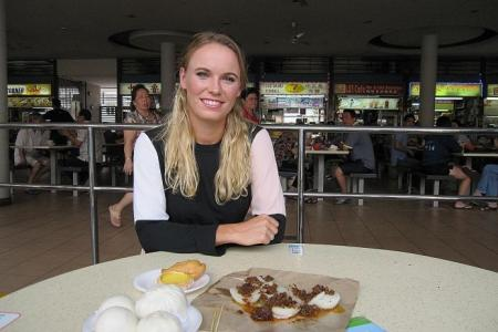 Tiong Bahru hawker centre a smash hit with tennis star Caroline Wozniacki