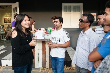 She would rather spend to help migrants makan