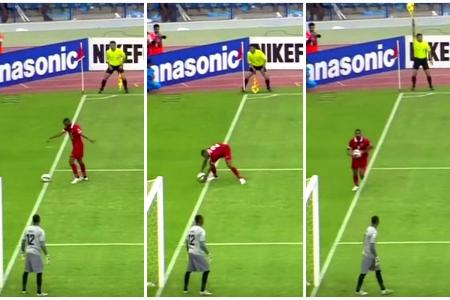 Most bizarre penalty conceded? Defender picks ball up with hands