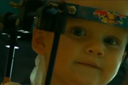 Toddler's neck no longer attached to his head