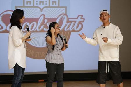 Running Man star surprises students at Singapore Polytechnic