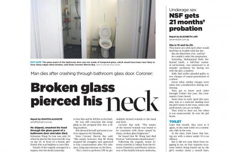 Shower cubicle death sparks concerns about glass safety
