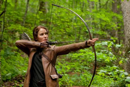 She helped JLaw go dark in The Hunger Games