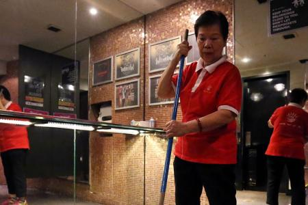 Zouk's long-serving toilet aunty gets vomited on so many times, she's used to it