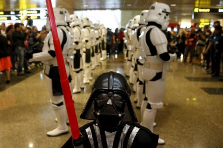 The force awakens at Changi Airport with Star Wars ANA plane and starfighters