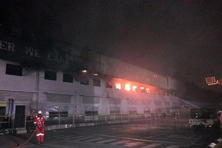 No one hurt in Keppel Shipyard fire