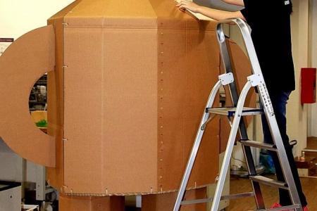 Tin man robot at heartland library ''lab'' created by tech-loving teens