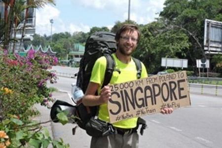 Man hitchhikes 25,000km from Poland to Singapore