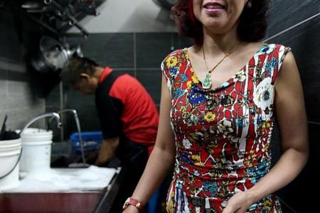 She's the restaurant boss who stood by dishwasher with skin condition