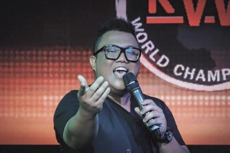 From 3rd to 2nd to 1st: S'pore teacher is world karaoke champion