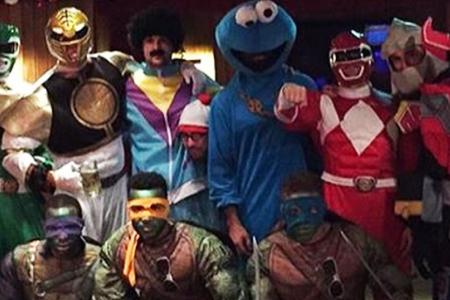 Ninja Turtles, Power Rangers and Muppets - Palace players cosplay for Christmas party