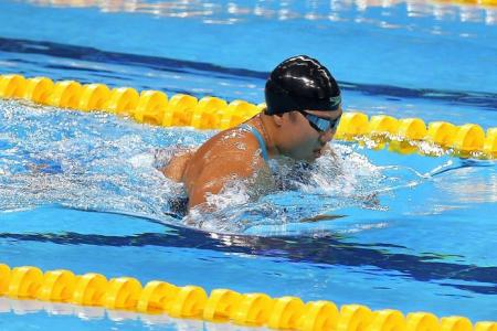 'Awesome' Theresa swims to two golds