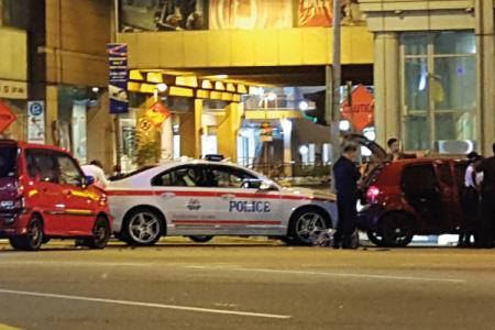 Singapore driver hits five vehicles including police cars in high-speed chase