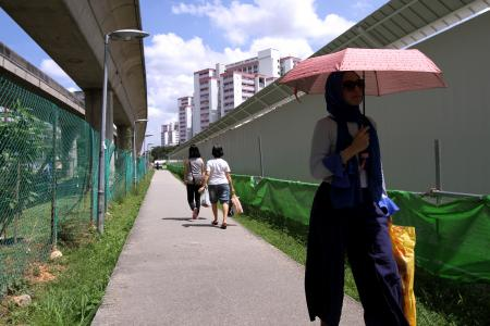 A much longer walk from Paya Lebar MRT station