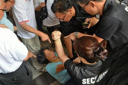 Security guard bitten on arm in scuffle at clan meeting