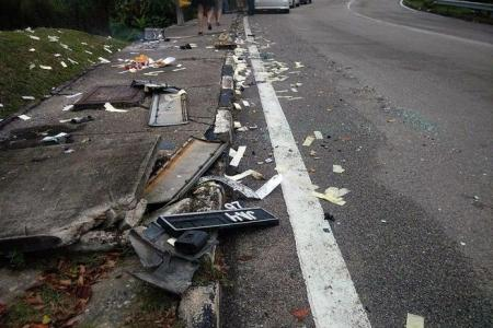 Unsuspecting wife went past site of husband's fatal accident