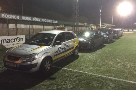 English non-league side takes car heating to a new level