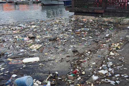 Rubbish, rubbish everywhere at Punggol marina