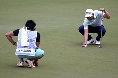 Song leads as Spieth's round halted by weather
