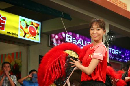 Xiang Yun performs lion dance sequence for new TV drama