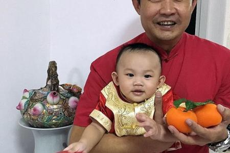 Mr Unbelievable preps baby for first CNY