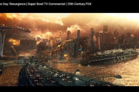 Singapore getting destroyed by aliens? It's an honour
