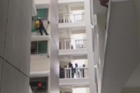 Man arrested after dramatic Punggol stand-off