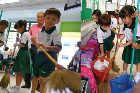 Students to do daily cleaning of classrooms, common areas