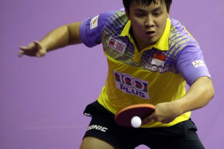 Singapore sweat over Gao Ning's injury
