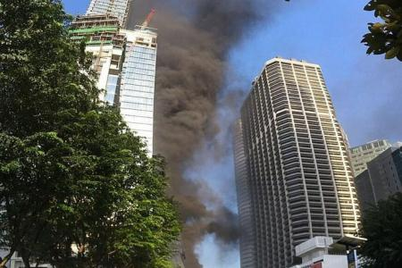 Worker at Tanjong Pagar Centre fire: 'The lorry I was in filled with smoke'