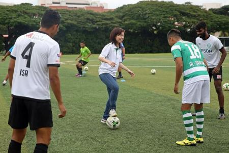 MP Tin Pei Ling wants more girls to take up football