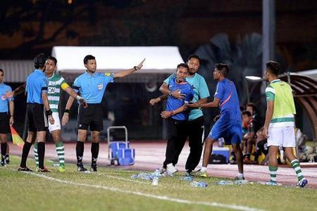 Hasrin blows his top after penalty claims turned down