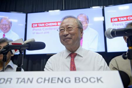 Dr Tan Cheng Bock: I'll be a president who will speak up