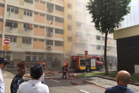 Fire at Bukit Panjang coffee shop