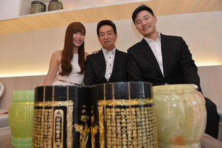 Undertaker Roland Tay and family stars in TV show