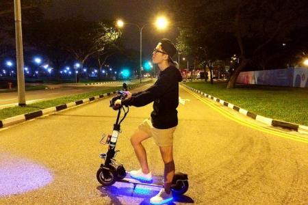 Man dies after fall from e-scooter