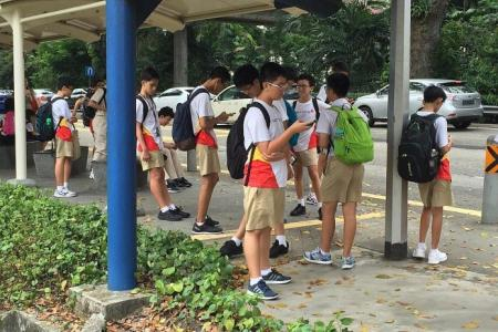Hwa Chong Institution's casual approach to warm weather