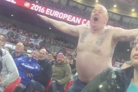 WATCH: Enthusiastic England fan does belly dance at Wembley