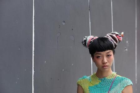 Yarnbombing - Woolly graffiti in Singapore