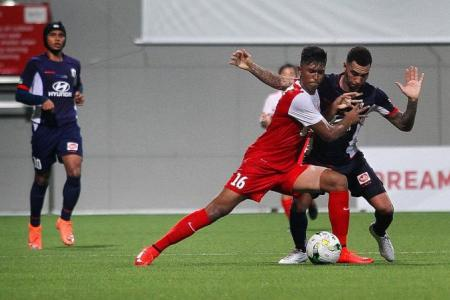 Stags sweat for 2-1 victory over Young Lions