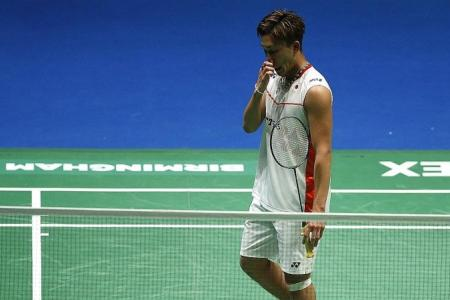Momota out of OUE Singapore Open after gambling admission