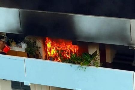 Residents rally together to put out fire at Eunos block