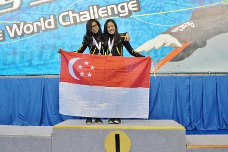 Singapore teens top international indoor skydiving competition